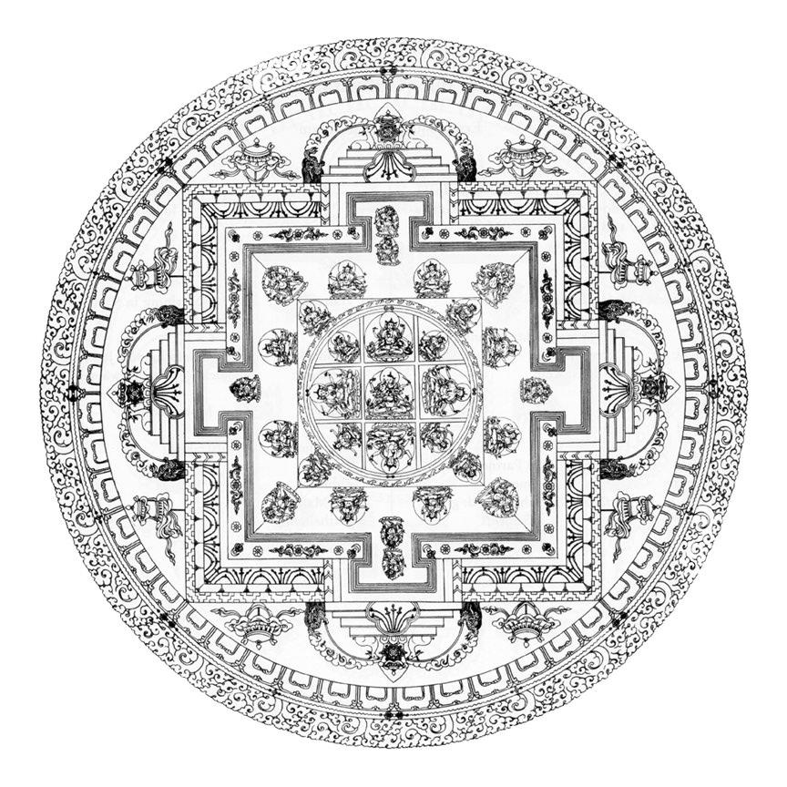 buddhist mandala coloring pages - mandala