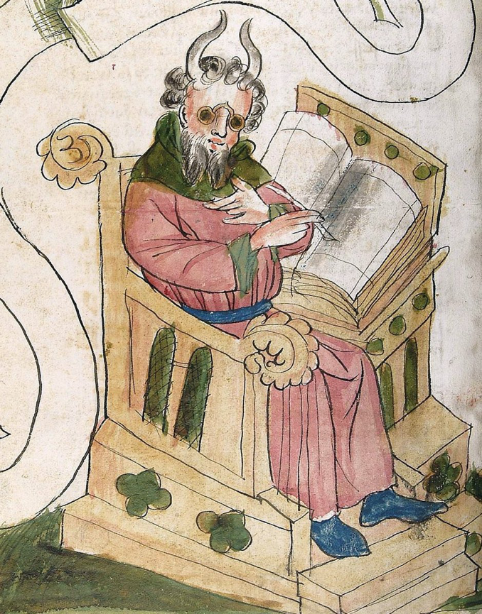 medieval depiction of Moses