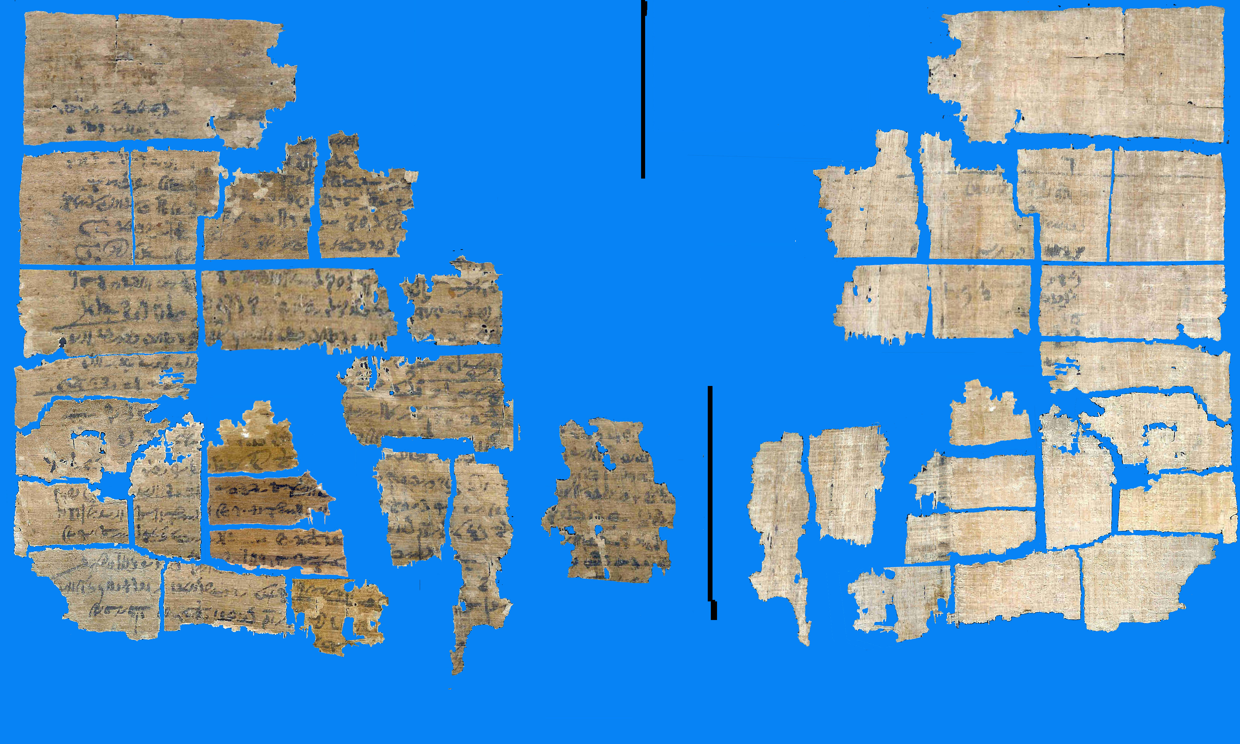 Papyri and related materials at the university of pennsylvania reconstructions of dismembered images winged figures now fragmented and here striped design red pink design heiratic with closeup demotic gumiabroncs Images