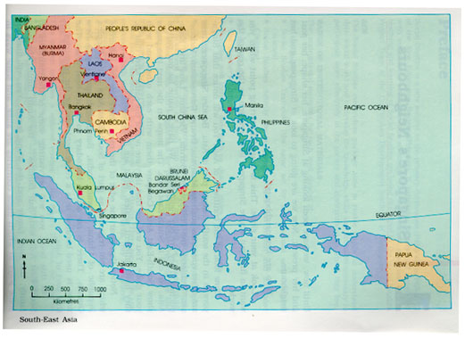 Maps and images – Southeast Asia Map Political