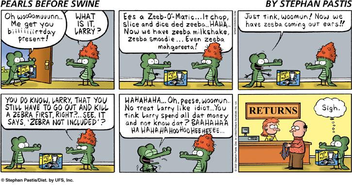 Idiot and wife comic strip